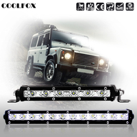 7 13 18W 36W 6000K Off Road Single Row LED Light Bar Waterproof Lamp For SUV