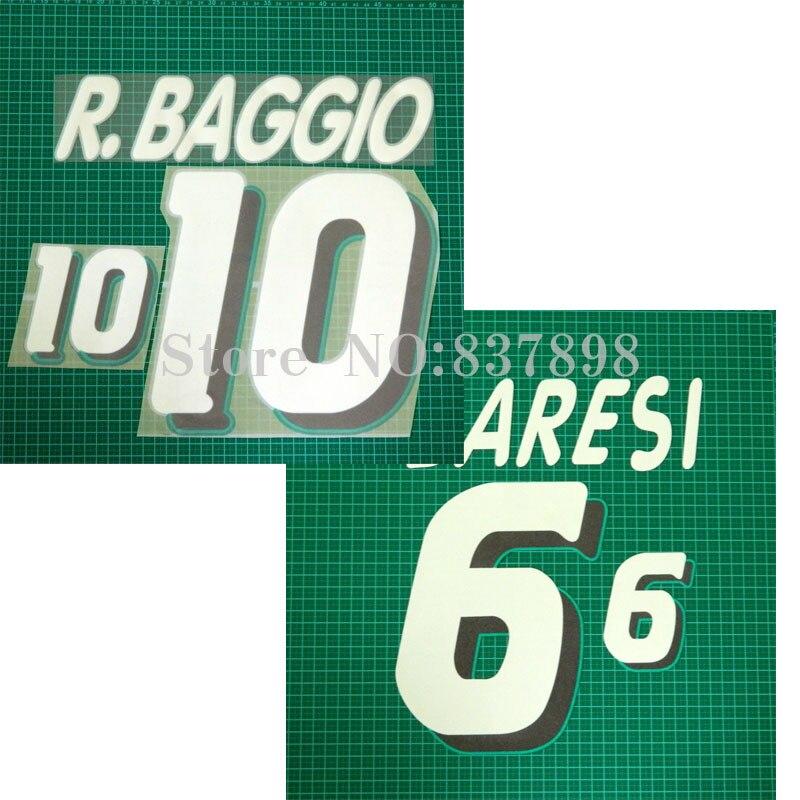 R.BAGGIO 10 Soccer badge Cashmere material velvet BARESI 6 1set