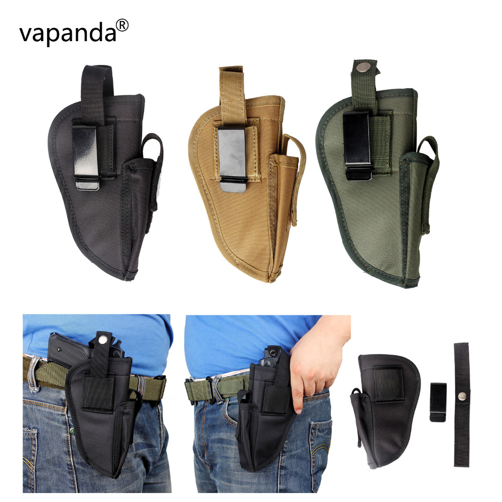 Vapanda pistola bolsa de la revista táctica pistolera cinturón Clip izquierda derecha intercambiable pistola Glock pistola fundas