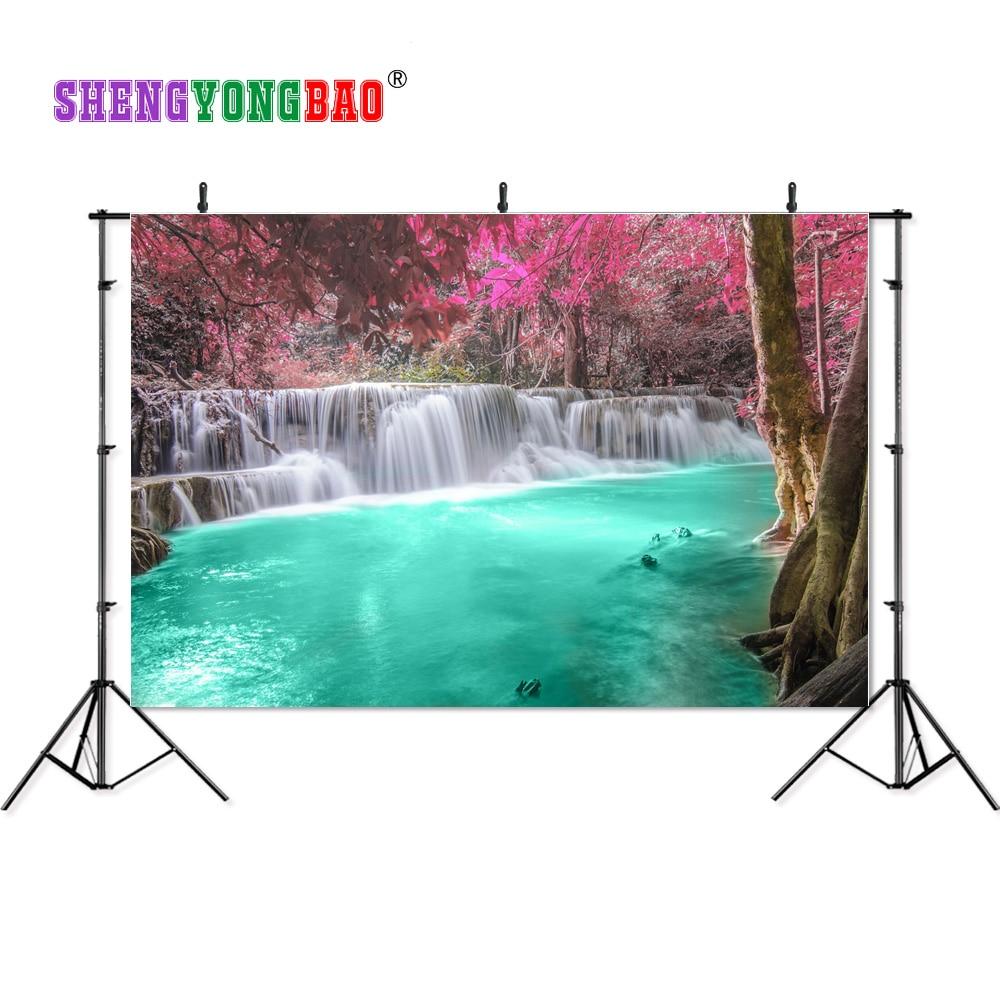 SHENGYONGBAO 7x5ft Art Cloth Custom Waterfall Theme Photography Backdrops Prop  Digital Background  TPB-0186