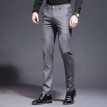 LOLDEAL Men Summer Suit Pants Casual Business