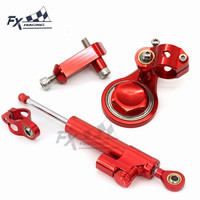 CNC Motorcycle Stabilizer Steering Damper Mounting Bracket Support Kit For Kawasaki ZX636 ZX6R Zx 6R 636 2005 2006