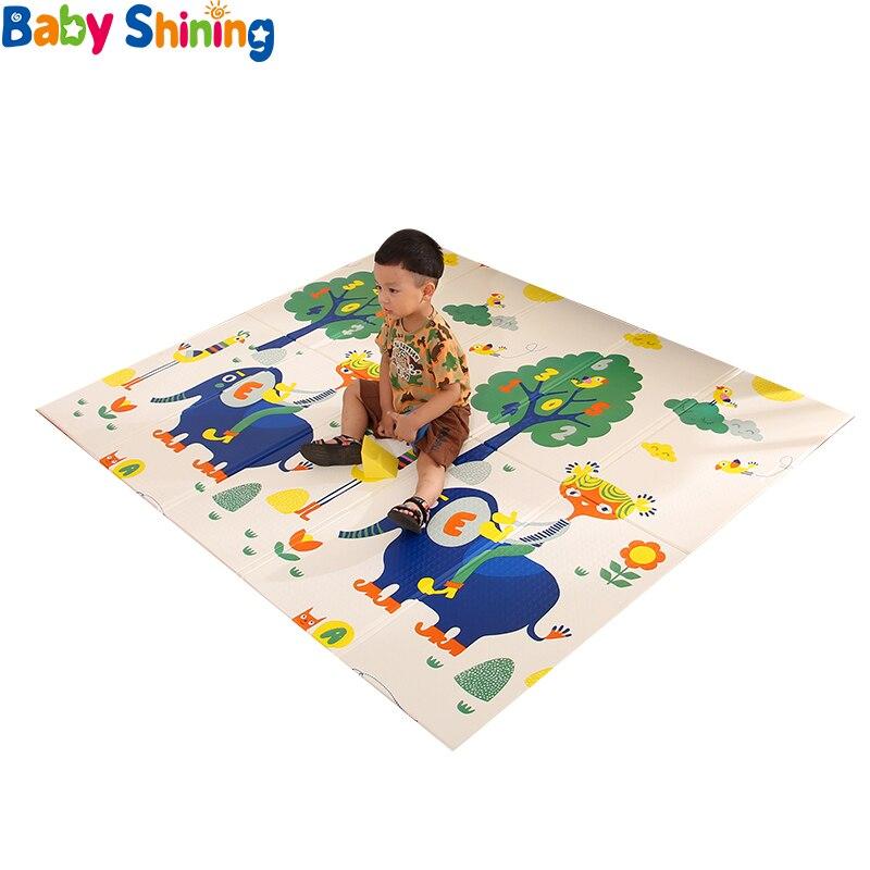 Bébé brillant bébé tapis pliant tapis de jeu tapis rampant XPE bébé chambre tapis enfants tapis de sol 200*150 cm tapis de jeu pour les nourrissons