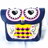 M641 Cute Cartoon Women Bag Specific Character Printing Owl Quality Pu Leather Shoulder Bags Small Size Women Gift Wholesale