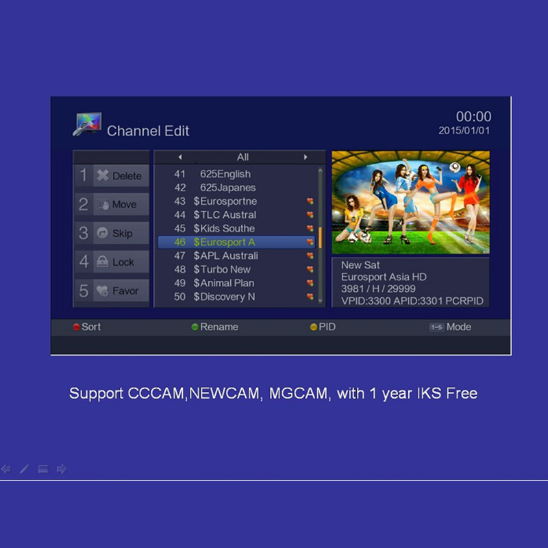 Support CCCAM NEWCAM MGCAM IPTV BOX With 1year IKS Free  POWERVU AUTOROLL ONLINE MOIVE Satellite TV Receiver Arabic IPTV Europe free forever nusky n3gsi nusky n3gst south america satellite receiver with iks sks free better than tocomfree s929 plus