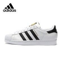a4d1d40d0 Оригинальный Adidas официальный суперзвезда Клевер для женщин и мужская  обувь спортивные спортивная Низкий Топ дизайнер C77124
