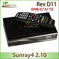 Sunray4 800HD sr4 triple tuner DVB-S/C/T satellite receiver rev d11 DVB-S,DVB-C,DVB-T2 install available by FEDEX