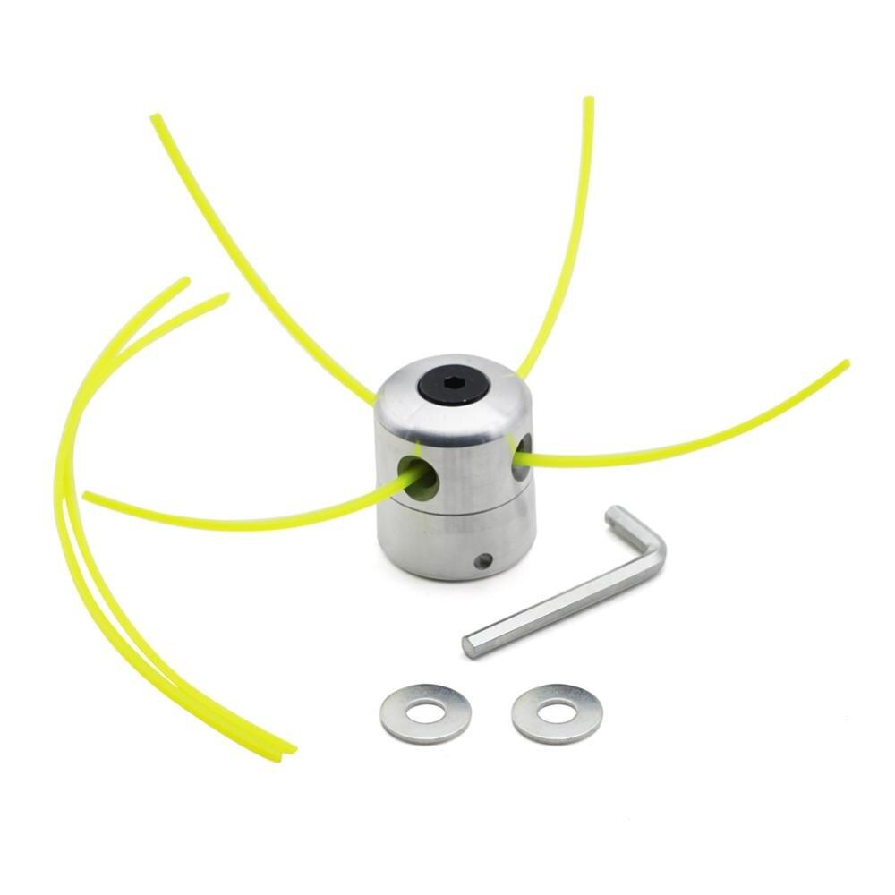 1 conjunto Universal Strimmer Trimmer Cabeça de Alumínio Cabeça Cabeças de Escova Cortador de Grama Cortador de Grama Aparador Acessórios Com Aparador de Linha