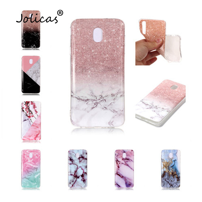 Case For Samsung Galaxy Note 9 A6 Plus Silicone Case J4 J6 J7 <font><b>J8</b></font> 2018 Case Luxury Marble Flower Geometric Soft Cover Samasung image