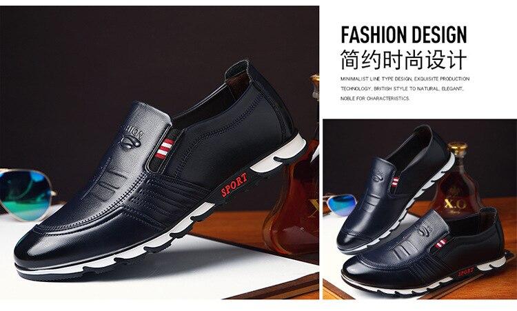 mocassins respirável deslizamento em preto sapatos de condução plus size sdf34