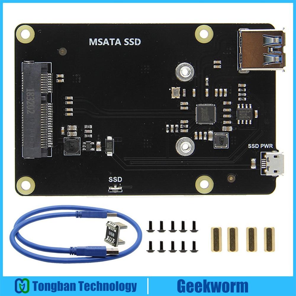 Raspberry Pi Three Mannequin B+(Plus) / 3B Msata Ssd Storage Enlargement Board X850 V3.zero Usb 3.zero Enlargement Board Module For Raspberry Pi