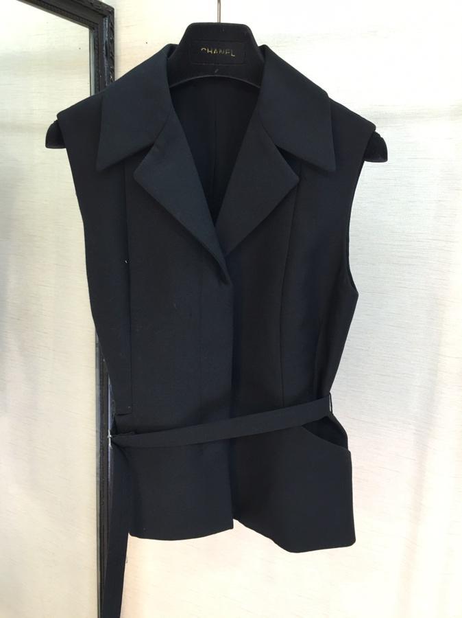 Chaqueta Sin Nueva Moda Cinturón Mujer Camiseta Chaleco Negro Sexy Mangas 2019 0408 xzwfqdRd
