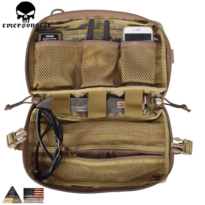 EMERSONGEAR Drop Pouch Tactical Molle Pouch Multifunction Bag Dump Pouch Military Hunting Combat Gear Multicam EM8347 500D fabri tactical molle dump bag hunting drop magazine pouch drop utility pouch belt bag