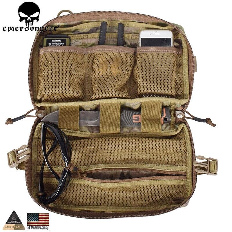 Poche de goutte EMERSONGEAR poche Molle tactique sac multifonction poche à benne basculante équipement de Combat de chasse militaire Multicam EM8347 500D fabri