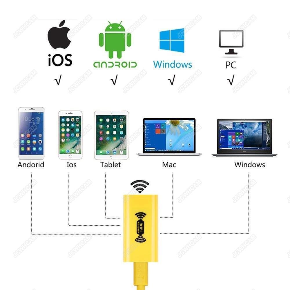 HD 1200 P Draadloze WiFi Endoscoop Mini Camera Waterdichte Semi Rigid - Camera en foto - Foto 2