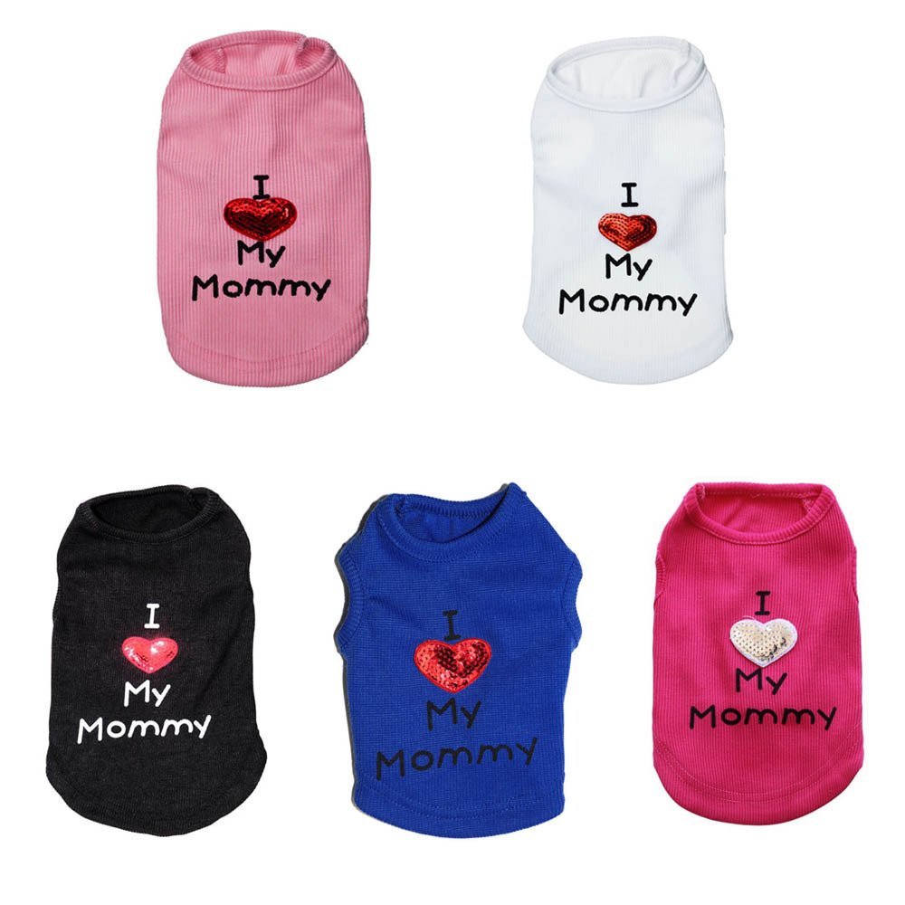 Small Dogs Clothes T-Shirt Little Dogs Overalls Small Pet Dog Clothes Dog Face Printing Puppy Fleece T-Shirt Fashion