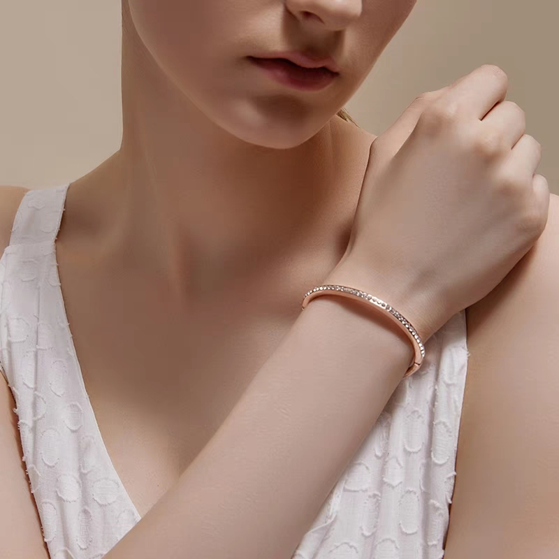 Ausdauernd Sinleery Einfach Einreihige Zirkonia Armreif Armbänder Silber Gold Farbe Frauen Party Hochzeit Engagement Schmuck Sl284 Ssc Manschette Armbänder