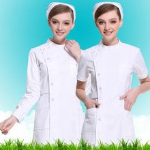Beautiful Angel Nurses Long Sleeve Winter Women's White Big Skull Short Sleeve Partial Stand Collar Winter Wear Medical Workwear(China)