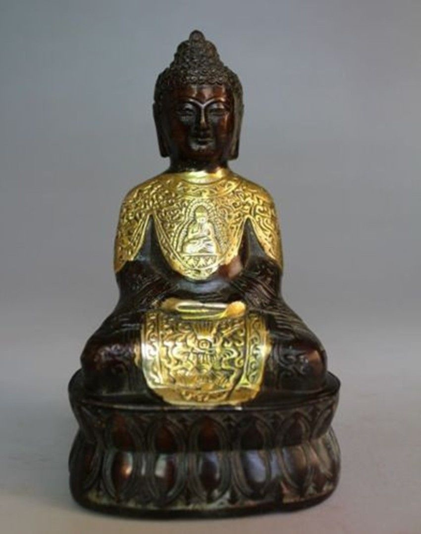Tibetan Tibet Buddhism Copper Bronze Sakyamuni Tantra Buddha Tathagata Statue