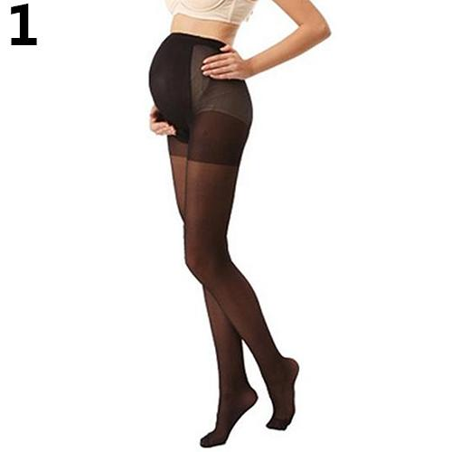 Pregnant Womens Plus Size Silky Stockings Pantyhose Stretchy Tights One Size