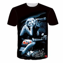 2017 New fashion High quality cool Men Women hot 3d t shirt Print Marilyn Monroe Skull head Summer fashion top Tees wholesale