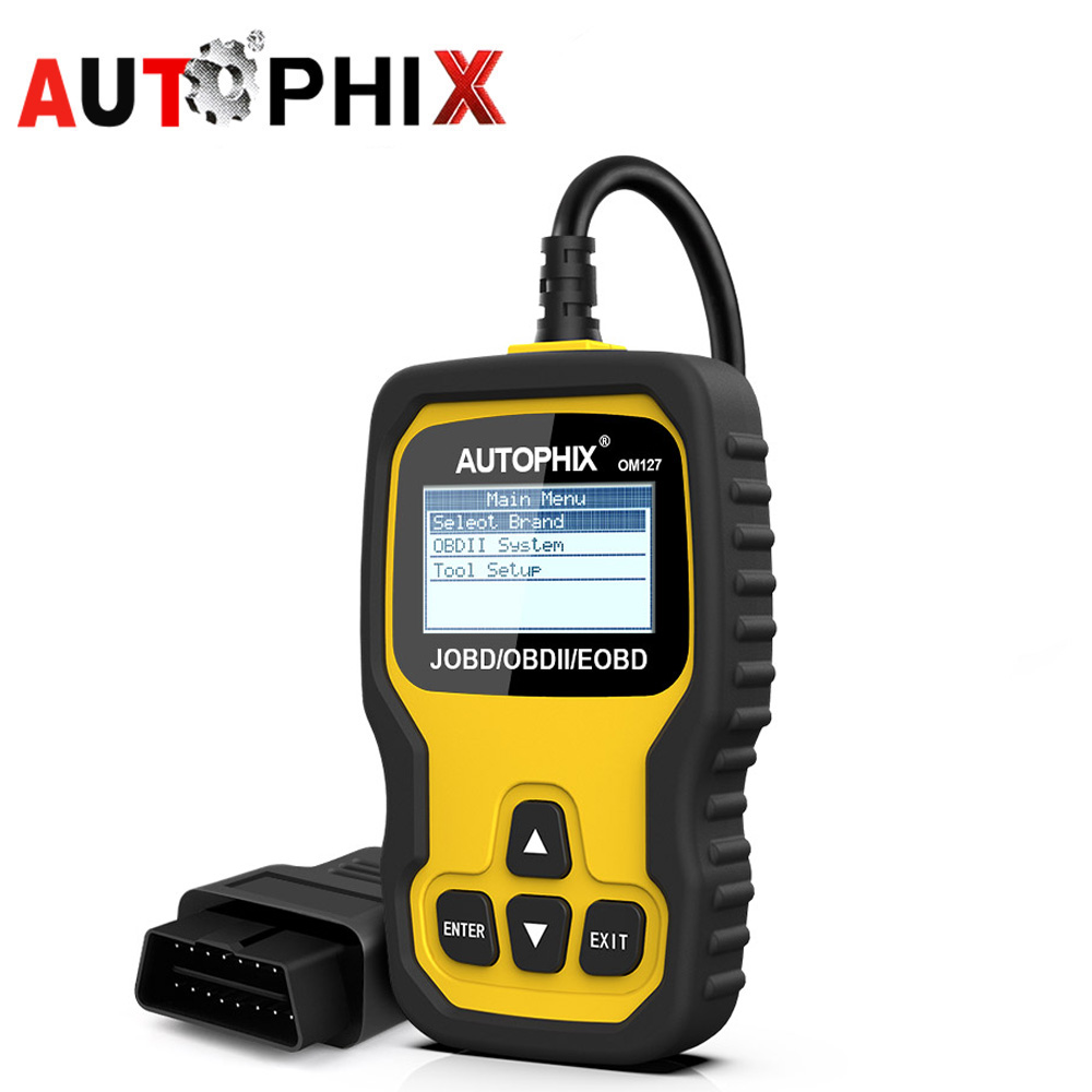 Autophix OM127 Obd2 Automotive Scanner JOBD for Toyota Hoda Nissan Etc Japanese Car Erase Fault Code Reader Diagnostic Scan Tool car obd scan diagnostic interface scan tool blue