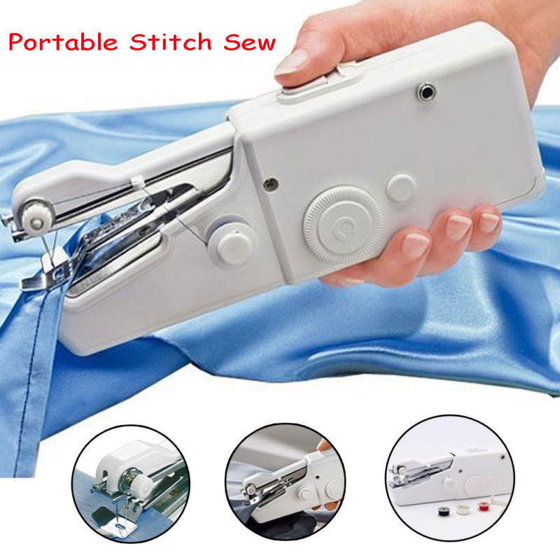 101 Portable Handheld Mini Sewing Machines Stitch Sew Needlework Cordless Clothes Fabrics Electric Sewing Machine For Household
