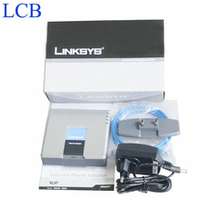 Frete grátis Desbloqueado Linksys PAP2T/PAP2T-NA Adaptador de Telefone VoIP com 2 Portas FXS Telefone com caixa original