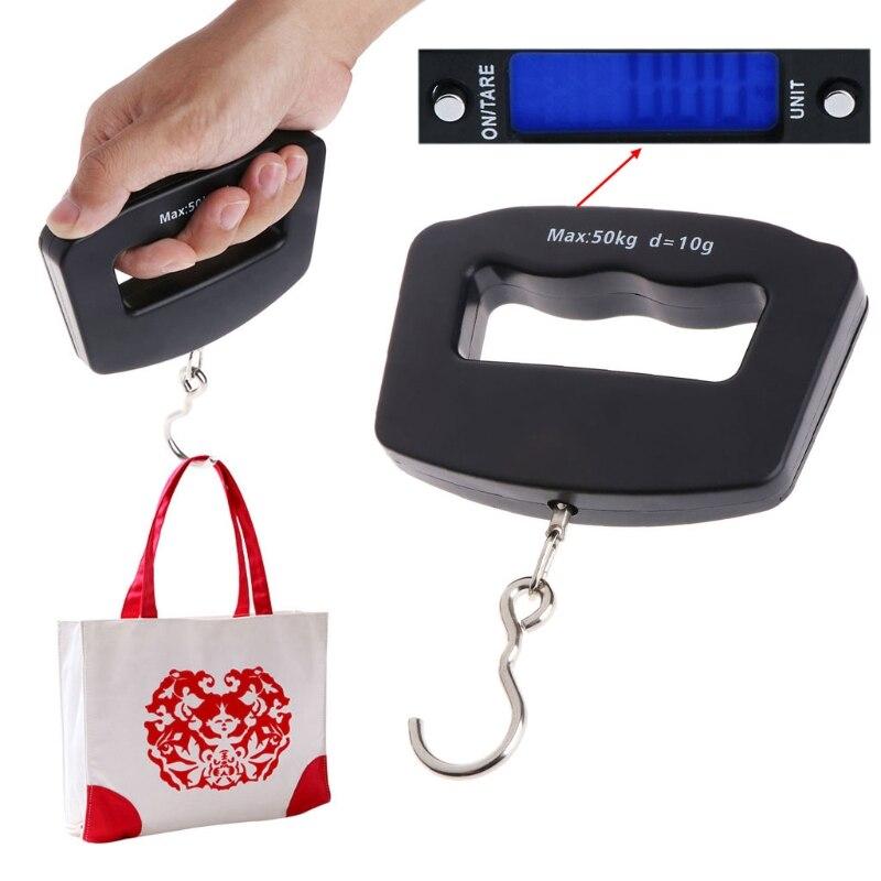 Portable Mini Digital Hand Held 50Kg 10g Fish Hook Hanging Scale font b Electronic b font