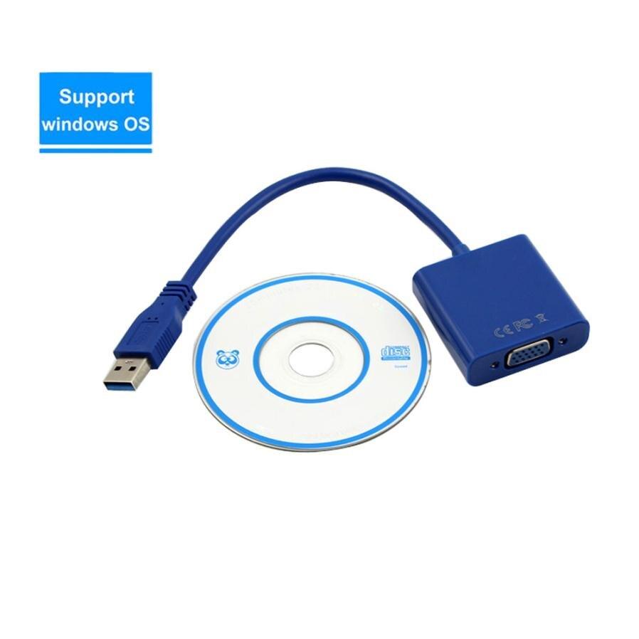 USB 3,0 VGA Multi-display Adapter конвертер внешней графической карты datum кабель 18Apr19