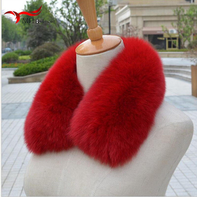 Real Fox Fur Collar Scarf Womens Shawl Wraps Shrug Neck Warmer Black Stole Wholesale Hot Sale Ring Scarf Womens L#11