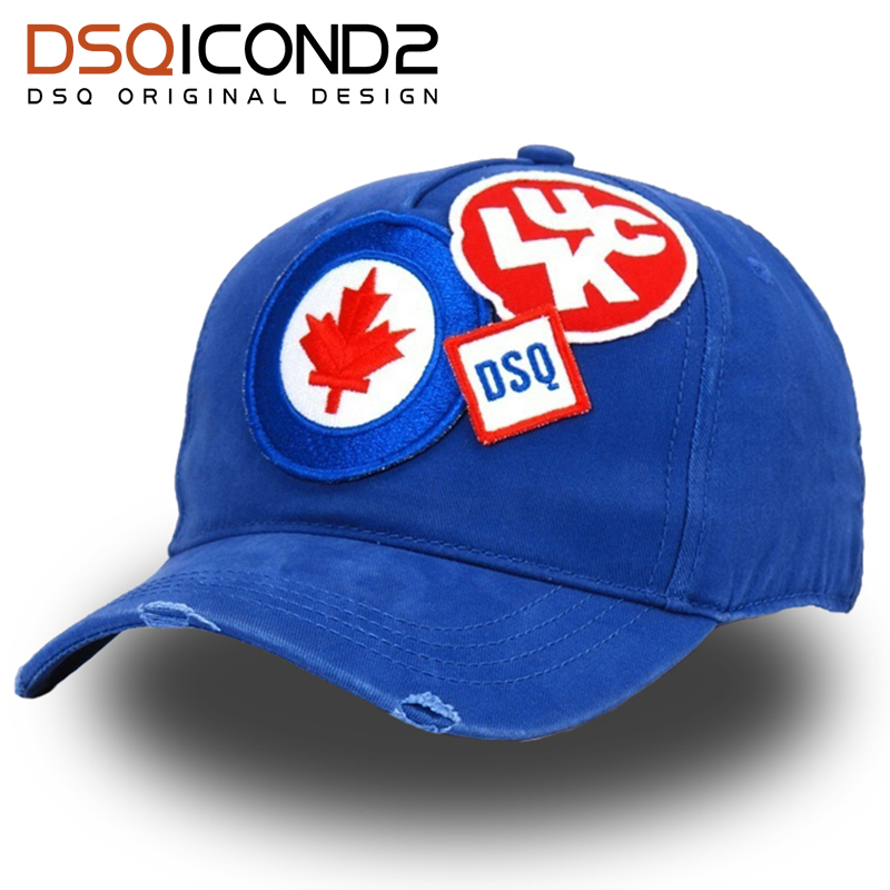 DSQICOND2 Cotton Brand Baseball Caps Casquette Homme Snapback Cap Letter  Patch DSQ Dad Hat for Men Women Bone Gorras Trucker Cap-in Baseball Caps  from ... 64c856750f