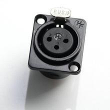 5 шт. металлический XLR 3-контактный famale шасси Панель настенный разъем