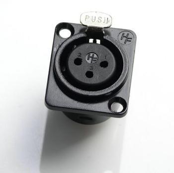 Darmowa wysyłka hurtownie 5 sztuk metal XLR 3-Pin famale panelu obudowy do montażu na ścianie złącze wtykowe tanie i dobre opinie