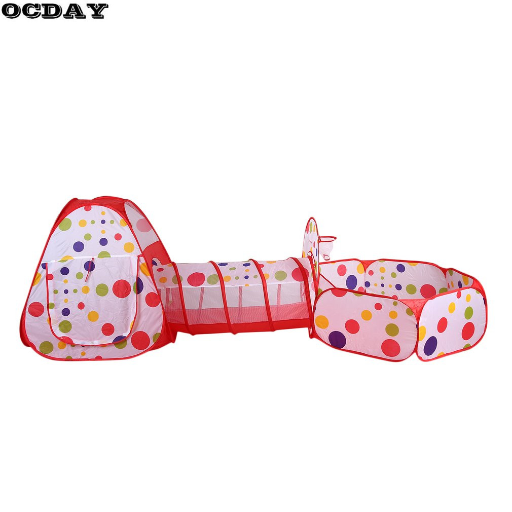 Baby Toy Tent Portable Folding Pop Up Tunnel Kids Crawling Play Tent Play House for Ocean Ball Pool Outdoor Sports Play Tent Set