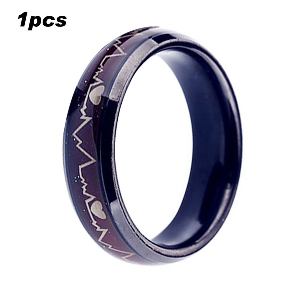Fashion Titanium Black Mood Rings Temperature Emotion Feeling Engagement Women Men 2018 Promise For: Mood Ring Wedding Ring At Reisefeber.org