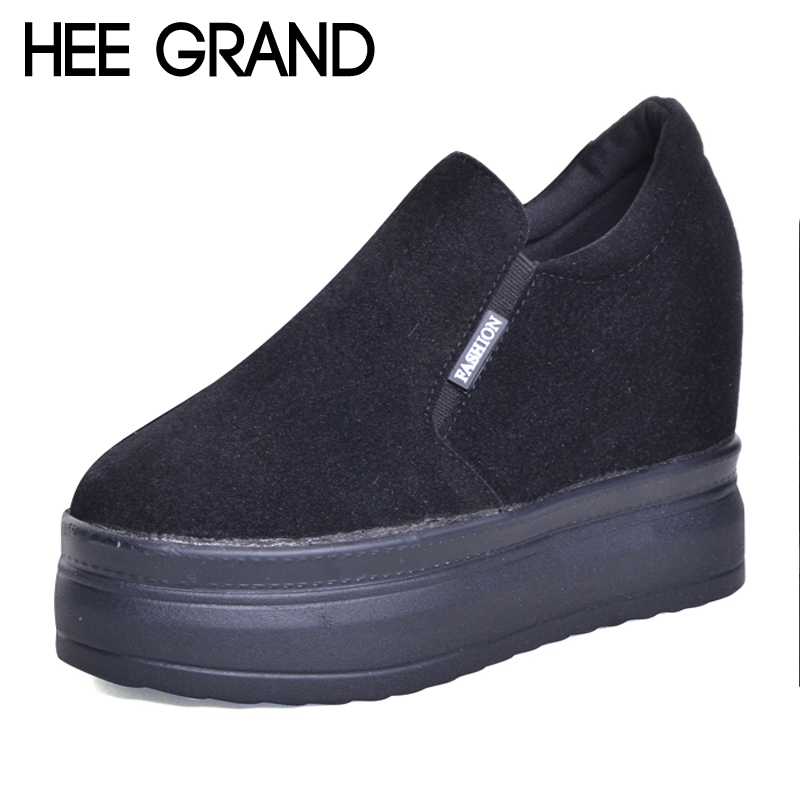 где купить HEE GRAND Increased Internal Women Boots Platform Shoes Woman Creeper Slip On New Ankle Boots Fashion Casual Women Shoes XWD6079 по лучшей цене