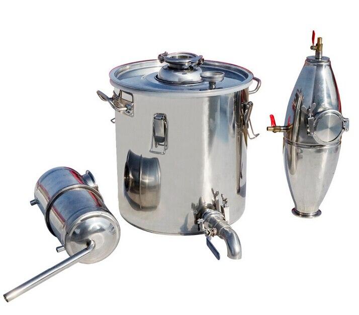 Livraison gratuite 20L 30L 50L 70L Alcool Inoxydable Distillateur Home Brew Kit Moonshine Still Vinification Chaudière