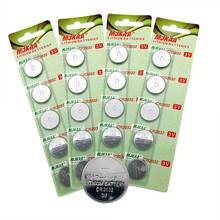 MJKAA 20pcs CR2032 Button Batteries BR2032 DL2032 ECR2032 Cell Coin Lithium Battery 3V CR 2032 For Watch Electronic Toy Remote