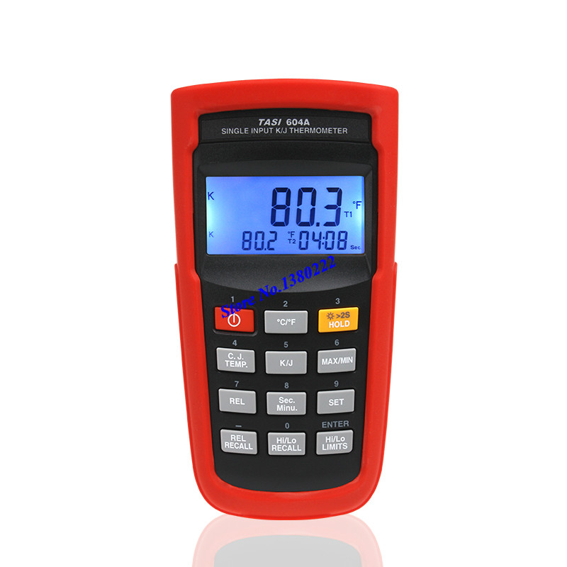 Highly accurate Single input thermometer TASI-604A K/J type thermocouple thermometer digital contact thermometer -200 to 1050C