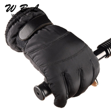 Men Mittens gloves Artificial Leather Anti Slip Men