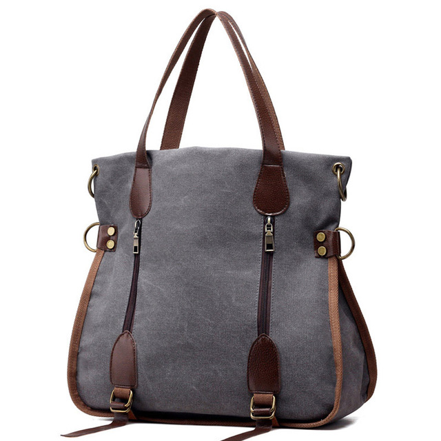 9ea04ea91f8d 2017 Fashion Women Canvas Bag Ladies Big Shoulder Bags Handbags Women  Famous Brands Large Captain Casual