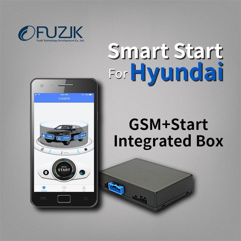 Fuzik удаленного Smart Start GPS трекер слежения Системы для Hyundai Elantra Mistra sonota 9 ix25 ix35 Tucson Santa Fe ...