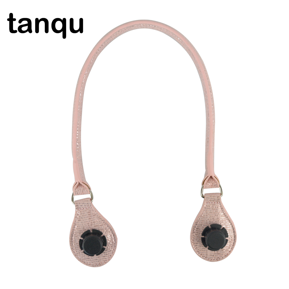 tanqu Concise Round Leather 1 Piece Handle with D Buckle Drops for Classic Mini Obag Basket Bucket City Chic Women Handbag O Bag tanqu tela insert lining for o chic ochic colorful canvas inner pocket waterproof inner pocket for obag