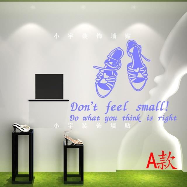 Schuhe Shop Wandaufkleber Schuh Wandbild Wandtattoo Einkaufszentrum