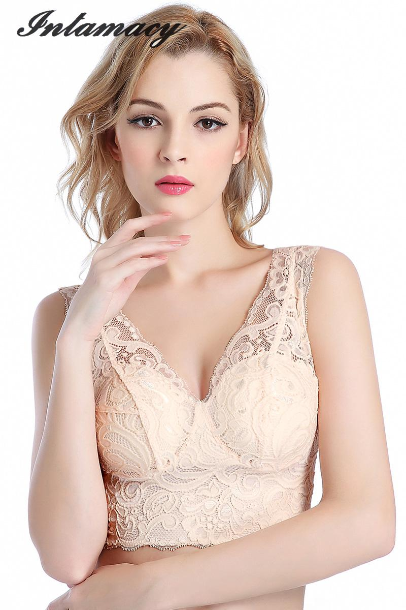 f0b8534fc8 The New 100% real Silk Lining Silk Lace Bra Vest With A Thin Silk Bra  Without Ring
