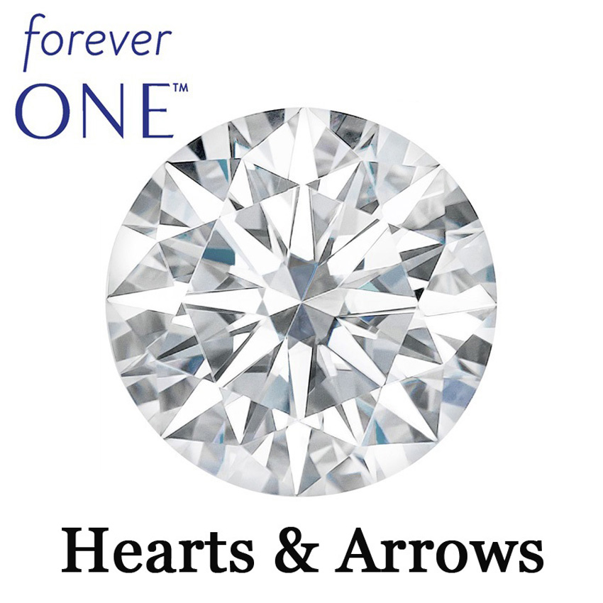 Arrows Loose Moissanite Brilliant Certified Original Round One And Colvard Perfect-Cut