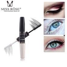 MISS ROSE 3D Fiber Eyelash Mascara Waterproof Rimel Mascara Black White Double-end Curling Lengthening Eye Lash Women Lashes