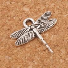 65pcs Airfoil Flying Dragonfly Charm Beads Pendants MIC 16.6x16.2mm Tibetan Silver Fit Bracelets Necklace Earrings L968