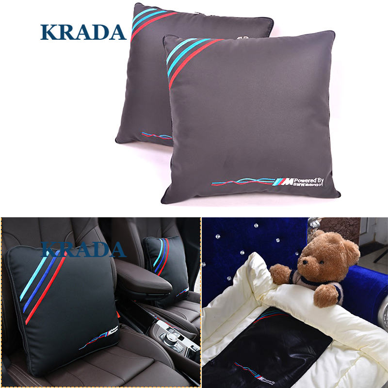 Car styling for BMW M Emblem E46 F10 E90 F30 E60 F20 E39 X3 E36 X5 X1 Car Pillow Lumbar Support for Office Chair Car Quilt car believe auto automobiles leather car seat cover for bmw e30 e34 e36 e39 e46 e60 f11 f10 f30 x3 x5 e35 x1 car accessories